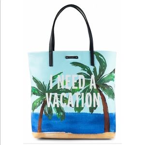 NWT Kate Spade I need a vacation tote